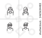 avatar  human  people lineal... | Shutterstock .eps vector #1465634483