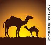 caravan of camels  vector image ... | Shutterstock .eps vector #146563979