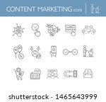 content marketing icons. set of ... | Shutterstock .eps vector #1465643999