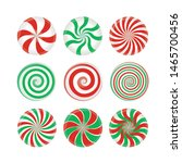 set of red and green candies... | Shutterstock .eps vector #1465700456