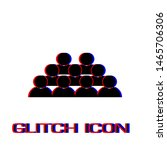 crowd of people icon flat.... | Shutterstock .eps vector #1465706306