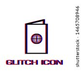 passport icon flat. simple... | Shutterstock .eps vector #1465708946