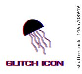 jellyfish icon flat. simple... | Shutterstock .eps vector #1465708949