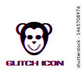 monkey head icon flat. simple... | Shutterstock .eps vector #1465708976