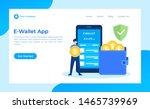 e wallet concept vector flat...   Shutterstock .eps vector #1465739969
