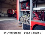 Fire Engine With Equipment Sta...