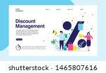 landing page discount... | Shutterstock .eps vector #1465807616