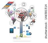 modern infographics business... | Shutterstock . vector #146581514