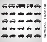 car icons set   isolated on... | Shutterstock .eps vector #146581550