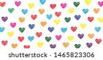 colored love heart month hearts ... | Shutterstock .eps vector #1465823306