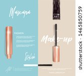 golden mascara make up booklet... | Shutterstock .eps vector #1465850759