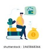 vector illustration  financial... | Shutterstock .eps vector #1465868366