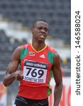 Small photo of DONETSK, UKRAINE - JULY 11: Warren Hazel of Saint Kitts And Nevis competes in semi-final of 400 metres during 8th IAAF World Youth Championships in Donetsk, Ukraine on July 11, 2013