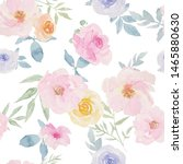 watercolor floral seamless...   Shutterstock . vector #1465880630