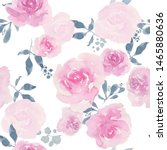 watercolor floral seamless... | Shutterstock . vector #1465880636