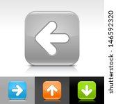 arrow icon set. orange  green ...