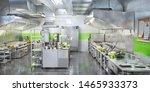 industrial kitchen. restaurant... | Shutterstock . vector #1465933373