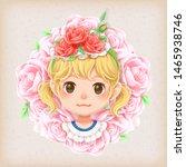 Character Cartoon Of Cute Girl...
