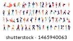 crowd of young people dancing... | Shutterstock .eps vector #1465940063
