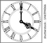 elegant roman numeral clock  ... | Shutterstock .eps vector #146594066