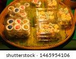 traditional thai dessert in... | Shutterstock . vector #1465954106