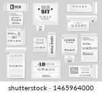 textile labels set. realistic... | Shutterstock .eps vector #1465964000