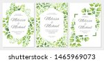 wedding invitation with green... | Shutterstock .eps vector #1465969073