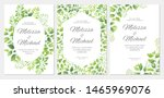 wedding invitation with green... | Shutterstock .eps vector #1465969076