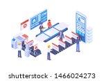 modern isometric content... | Shutterstock .eps vector #1466024273