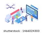modern isometric planning... | Shutterstock .eps vector #1466024303