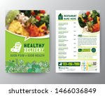 food delivery flyer pamphlet... | Shutterstock .eps vector #1466036849