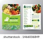 food delivery flyer pamphlet... | Shutterstock .eps vector #1466036849