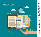 investment in knowledge concept ...   Shutterstock . vector #1466050313