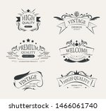 vintage premium element label... | Shutterstock .eps vector #1466061740