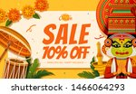 happy onam festival sale with...   Shutterstock .eps vector #1466064293
