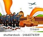 vector illustration of army... | Shutterstock .eps vector #1466076509