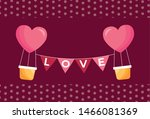 heart hot air balloon design ... | Shutterstock .eps vector #1466081369