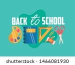 back to school design ... | Shutterstock .eps vector #1466081930