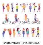 bundle of commnuity people... | Shutterstock .eps vector #1466090366
