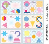 set of templates with minimal... | Shutterstock .eps vector #1466101073