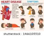 infographics. symptoms of heart ... | Shutterstock .eps vector #1466105510