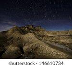 Desert Of Bardenas At Night