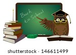 back to school owl with...   Shutterstock .eps vector #146611499