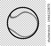 baseball ball sign. black icon... | Shutterstock .eps vector #1466123870