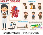 infographics. symptoms of heart ... | Shutterstock .eps vector #1466129939