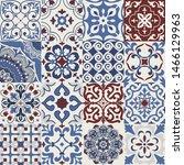 set of 16 colorful tiles... | Shutterstock .eps vector #1466129963