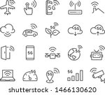 set of 5g icons  such as wifi ... | Shutterstock .eps vector #1466130620