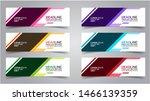 set of modern  web banner... | Shutterstock .eps vector #1466139359