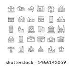 modern thin line icons set of...   Shutterstock .eps vector #1466142059