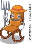 Farmer Rocking Chair In Cartoo...